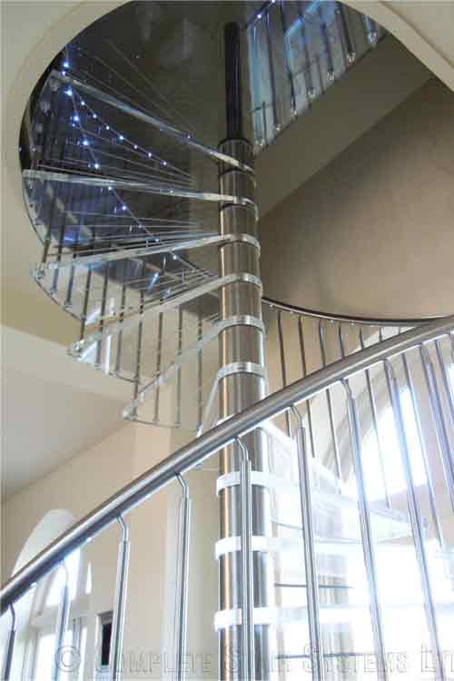 Acrylic-Tread-Spiral-Stair-Nottingham