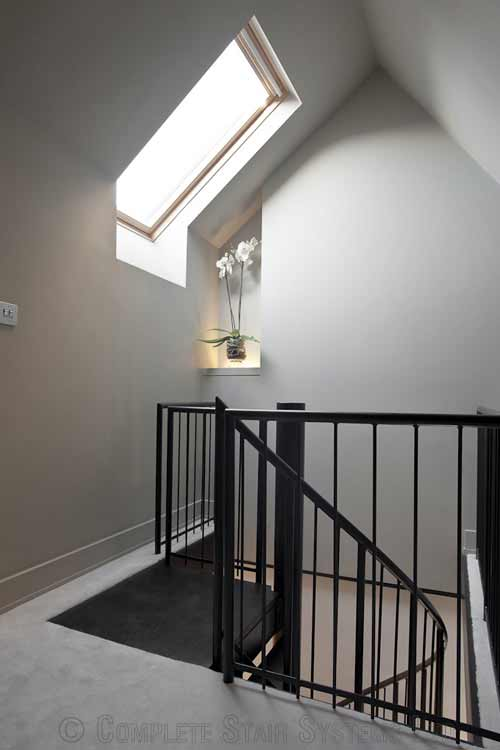 Staircase Regulations Uk >> Spiral Stair Bristol was a loft conversion project with a small spiral