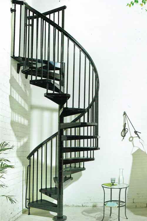 external spiral stairs in kit form and bespoke view previous projects