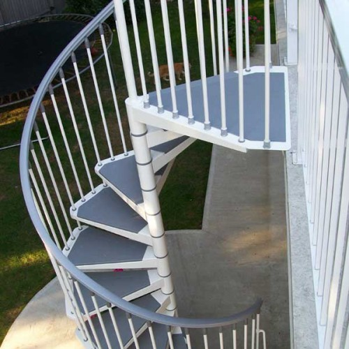 Eureka Spiral StaircaseEureka Spiral Staircase is a modern external kit spiral staircase. Outdoor Spiral Staircase Kit Uk. Home Design Ideas