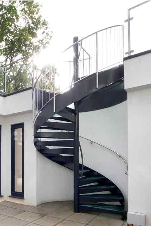 Nice External Spiral Stairs Rickmansworth