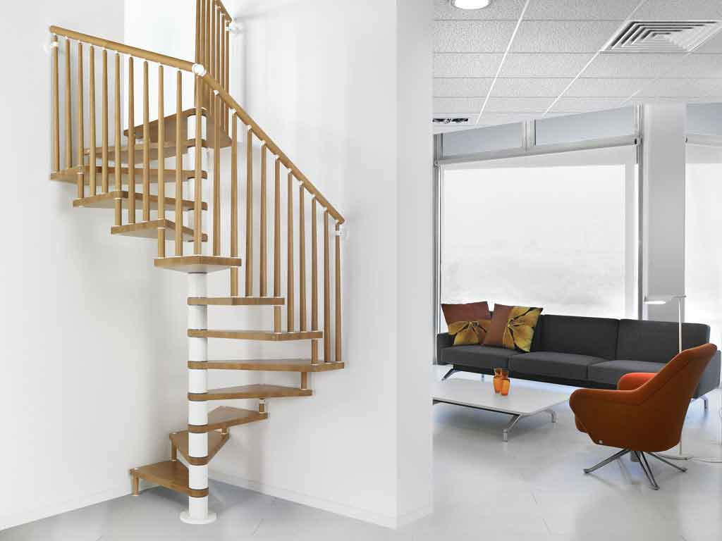 genius 070 spiral staircase in oak ash or beech with