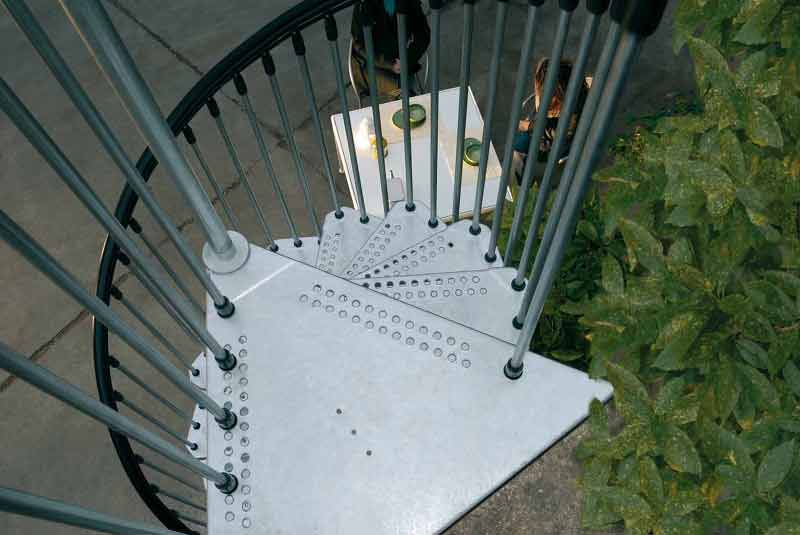 civik zink spiral stair is a kit spiral supplied for external use