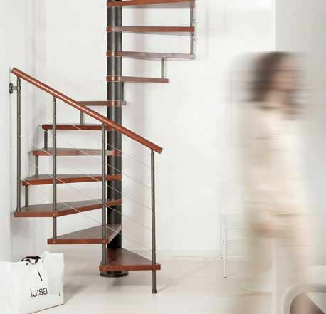 genius 010 spiral staircase with horizontal steel wires clivk to view