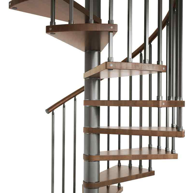 Genius 020 spiral staircase with 20mm square vertical spindles for Spiral staircase square
