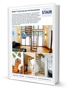 Model 71 Spiral Staircase Product Sheet - Spindles