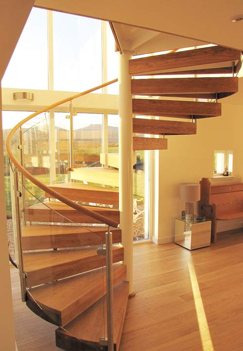 Staircase Regulations Uk >> Spiral Stair Banchory was a project with glass panels wrapping around stair