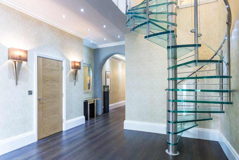 Glass Spiral Staircase Cheshire - Spiral Staircases