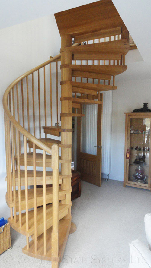 Oak Spiral Staircase Highlands Spiral Staircases