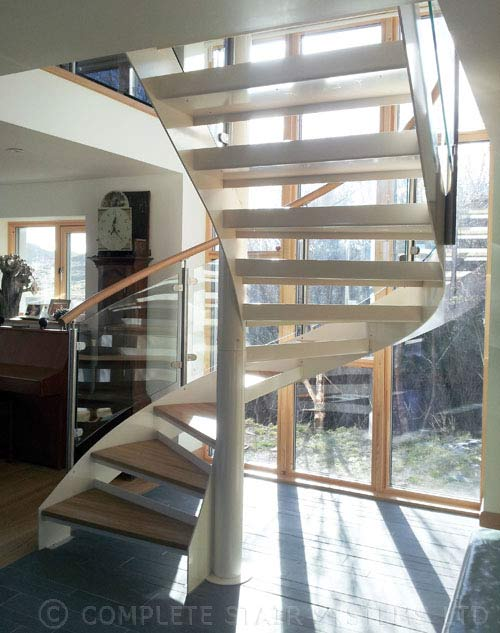 Spiral stair ullapool was a prject in a stunning setting for Half spiral staircase
