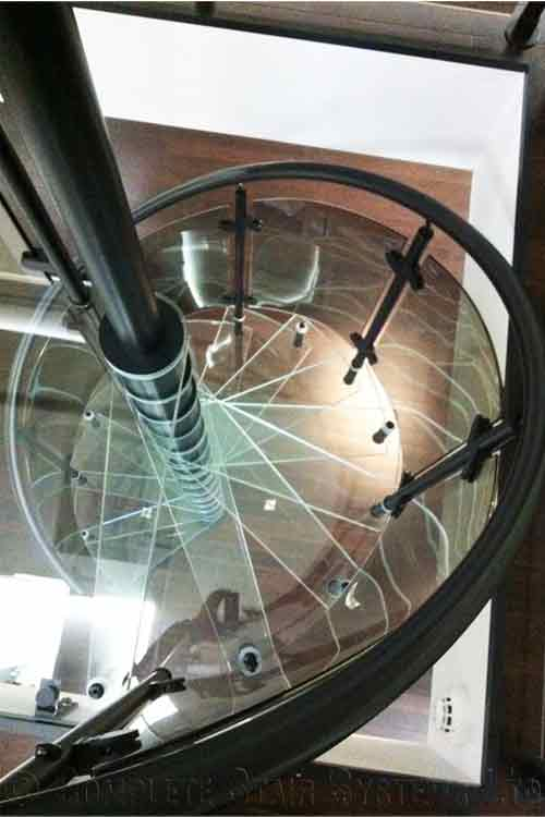 Acrylic-Tread-Spiral-Stair-Bromley