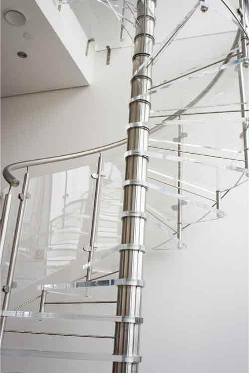 Acrylic-Tread-Spiral-Stair-Cardiff