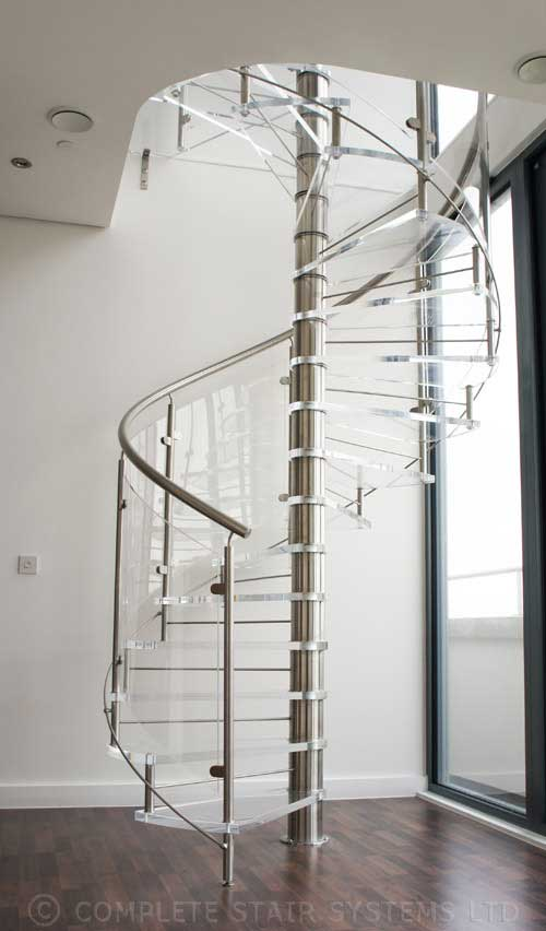 Acrylic Spiral Staircase Cardiff Was A Project For A Large