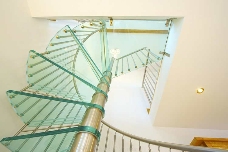 Glass Spiral Staircase Shropshire Spiral Staircases
