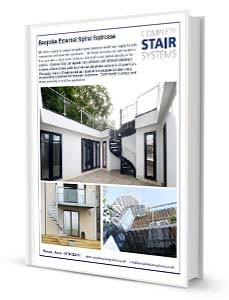 Bespoke External Spiral Staircase Product Sheet